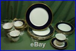 Noritake China 2799 Valhalla 20 pc Set Very Good Cobalt Blue Gold 18D011