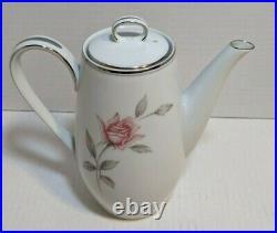 Noritake China 6044 Rosemarie Chocolate Coffee Tea Demitasse Pot Set Rose 10 Pc