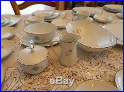 Noritake China #6407 Simone Set for 12 with7 Serving Pieces 10-2