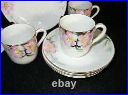 Noritake China AZALEA 19322 Demitasse Cup & Saucer 4 Sets