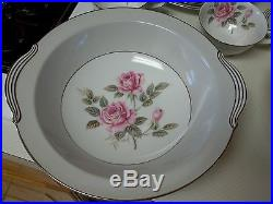 Noritake China Arlington 5221 32 Piece Set Service for 4 Plus Pink Roses