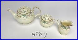 Noritake China Brookhollow 4704 Teapot, Cream & Sugar Set Mint Condition