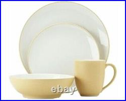 Noritake China COLORWAVE YELLOW (8491) Four Piece Place Setting Discontinued