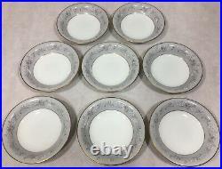 Noritake China Chelsea 5822 Japan Gray Band White Flowers 57 Piece Set Lot
