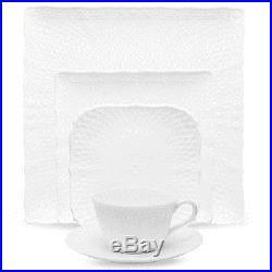 Noritake China Cher Blanc Square 40Pc China Set, Service for 8