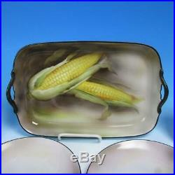 Noritake China Corn Serving Platter and Set of 6 Individual 7¾ Plates