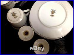 Noritake-China-Corona-Pattern-6502-8-Settings-49-Total-Pieces-Vintage-1920s