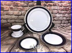 Noritake China Crestwood Cobalt Platinum 19Pc China Set BRAND NEW WITH TAGS