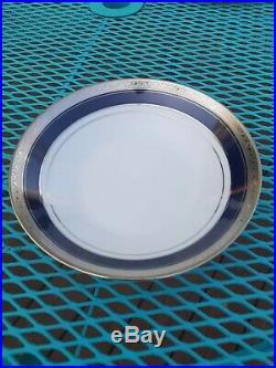 Noritake China Crestwood Cobalt Platinum 93 Pc China Set, Service for 12