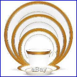 Noritake China Crestwood Gold 60Pc China Set, Service for 12