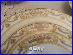 Noritake China Cynara #3829 Set of Dinnerware for 12 with8 Serving Pieces 9-5