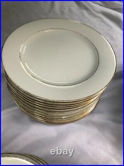Noritake China Dawn #5930 Japan Gold Trim Dinnerware/Tea Set, Platter, Plates