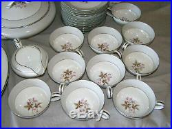 Noritake China Dinnerware Set 89 Piece Service for 12 with Serving #5547
