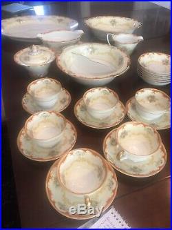 Noritake China Fiesta Pattern Dinnerware Set 49 Pc Many Rare Serving Pieces