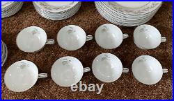 Noritake China Glendon Service For 8 5 Piece Set 40 Pieces Plates Cup #5423