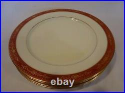 Noritake China Goldhill #6613 Set of 4 Dinner Plates