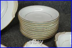 Noritake China Guilford #5291 Made In Japan 85 Piece Set Gold Trim