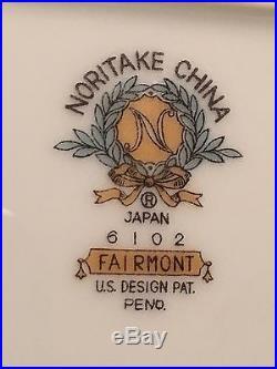 Noritake China Japan Fairmont Complete 12 Person Set