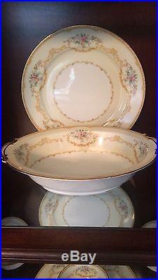 Noritake China M Evana Pattern c. 1914-40. Setting for 12 & serving pieces