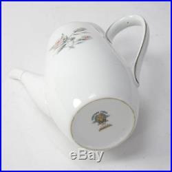 Noritake China Margot 5605 Coffee Set 6x Small Coffee Cups/Saucers & Coffee Pot
