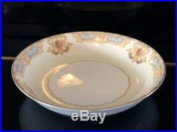 Noritake China Mystery Pattern N194 13 Piece Set Blue And Yellow Floral Design