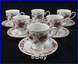Noritake China Nanking Cup Saucer Sets Porcelain Coffee Tea Ireland Floral (6)