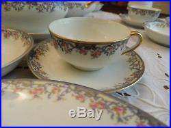 Noritake China Nippon Alsace Dinnerware Set for (10) with8 Serving Pieces 8-1