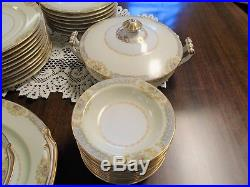 Noritake China Occupied Japan Lauritz 58pc Antique Dinnerware Set of Dishes