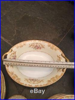 Noritake China Pattern N136 44 PC Dinnerware Set Vintage Circa 1933
