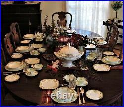 Noritake China, Plaza, porcelain DINNER SET, Classical, roses, for 12, 134 pc