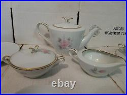Noritake China ROSEVILLE Pattern 6238 Tea Luncheon Set for 6 (21 Pieces)
