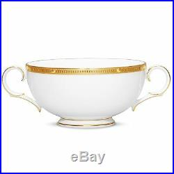 Noritake China Rochelle Gold Cream Soup Cups, Set of 5