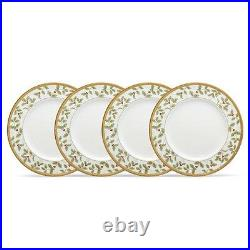 Noritake China Rochelle Gold Holiday Accent Plates, Set of 4