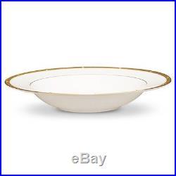 Noritake China Rochelle Gold Soup Bowls, Set of 4
