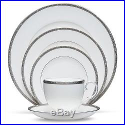 Noritake China Rochelle Platinum 20Pc China Set, Service for 4