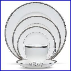 Noritake China Rochelle Platinum 60Pc China Set, Service for 12
