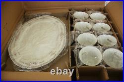 Noritake China Rothschild 50 Piece Ivory Dish Dinner Set New Old Stock