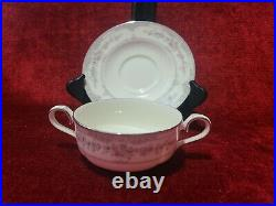 Noritake China SHENANDOAH Set of 2 Cream Soup Cups and Saucers