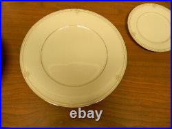 Noritake China Satin Gown Pattern Four 5 Piece Place Settings Excellent