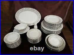 Noritake China Savannah Pattern 2031 Dinnerware 56 Piece Set