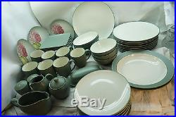 Noritake China Set Colorwave Green 58 Pc Stoneware Dinner Plates Service 8