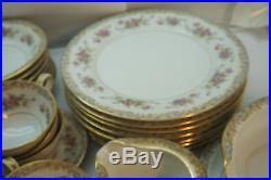 Noritake China Set Somerset Pattern 37 Pc 5317 Vintage Floral Dinnerware Plates