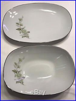Noritake China Set Soroya #6853 Green Floral Design 66 pieces VINTAGE