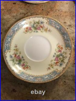 Noritake China Set of 8 Teacups Saucers Creamer Sugar Plates Occupied Japan