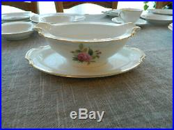 Noritake China Sharon #3057 Dinnerware Set for 7 with 6 Serving Pieces 12-4