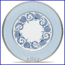 Noritake China Sonnet In Blue Accent/Luncheon Plates, Set of 4