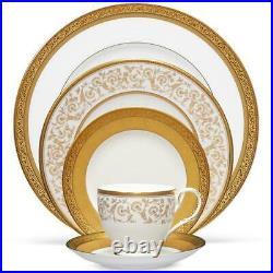 Noritake China Summit Gold 60Pc China Set, Service for 12