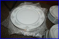 Noritake China Sweet Leilani 42 PIECE SET DINNER & SALAD PLATES CUPS & SAUCERS
