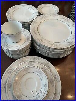 Noritake China Sweet Leilani 60Pc China Set, Service for 12 (almost)