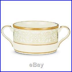 Noritake China White Palace Cream Soup Cups, Set of 4